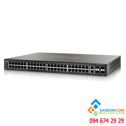 Bộ chia tín hiệu Switch Cisco 48-Port Managed Stackable Gigabit  SG500-52-K9-G5