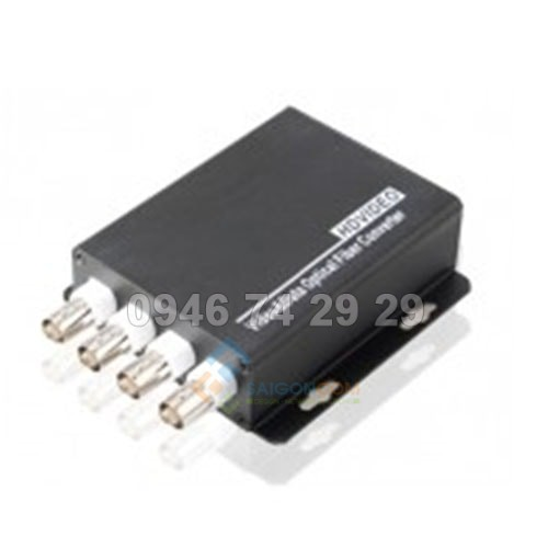 Converter Quang  to Video 4 Port + RS485