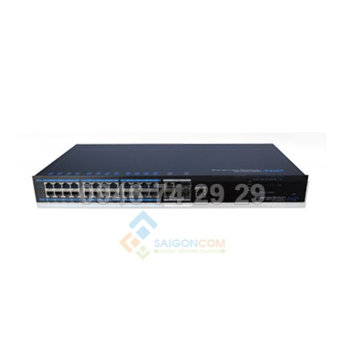 Switch ionnet 24 Ports PoE Managed Ethernet Switch, 802.3af/at, WEB Management, 6KV Lightning Protection, 480W