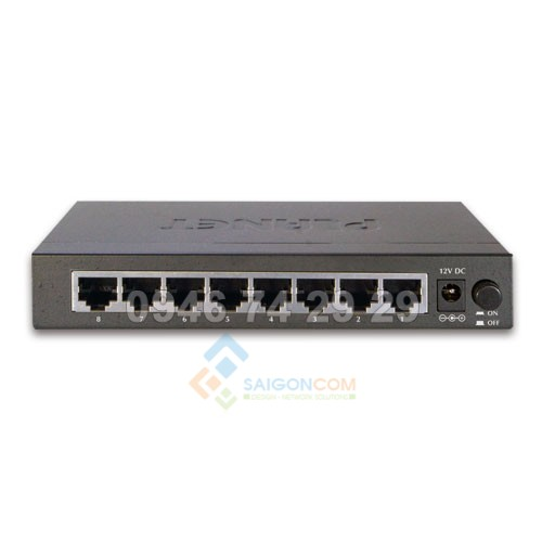 Switch Planet 8-Port 8-Port 10/100/1000Mbps Gigabit Ethernet