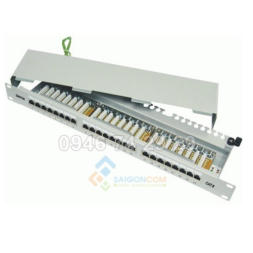 Patch panel 24 port Dintek, CAT.6, 19 inch