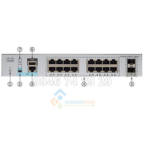 Switch cisco Catalyst 2960L 16 port GigE, 2 x 1G SFP, LAN Lite
